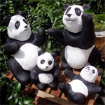 1600 Pandas in Papier Mache by David Osborne