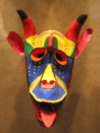 Mask on display at the Museum of Antrophology
