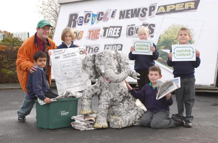 Just one of the many promotional photocalls that Ernie took part in. This one was for the Rossendale Advertiser.
