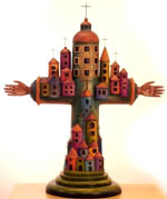 Example of Sergio Bustamante's work - Town Cross