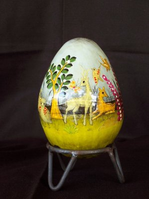 Second small egg - 1960s. 16cm high, 11cm wide, 35.5cm around.