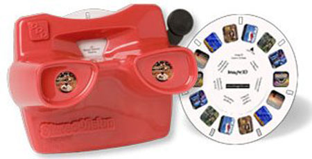 I am creating a 3' x 3' x 3' viewmaster, which will house a flat screen monitor for use as a presentation at the Three Springs Visitor Center.