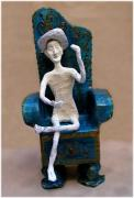 nude king on throne by Louise Rosenfeld