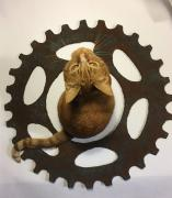 """Rusty"" bicycle sprocket. by Richard Will"