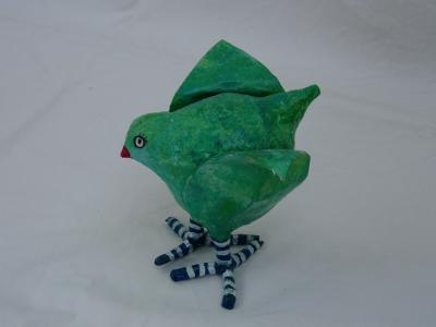 """blue green bird 1"" by Neomi Goldbaum"