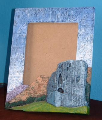 """Dolbadarn castle mirror/picture frame"" by Davey B"