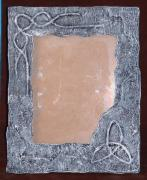 carved in stone celtic mirror/picture frame by Davey B
