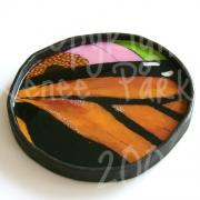 Monarch Abstract Tray by Renee Parker
