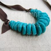 Blue Chip Necklace by Renee Parker