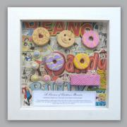 Kid's biscuits in a frame by Lorraine Berkshire-Roe