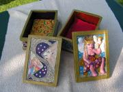 Tarot card boxes by Scylla Earls