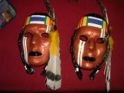 American Indian Warrior Masks by Carolyn Bispels