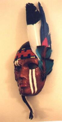 """Female American Indian Mask"" by Carolyn Bispels"