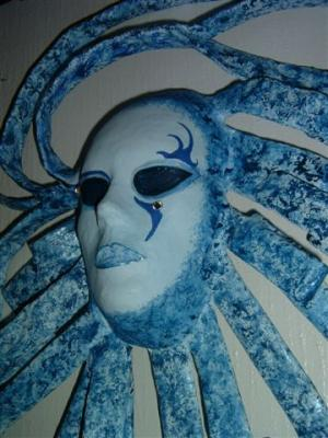 """Moonbeams -Mask-side View"" by Carolyn Bispels"