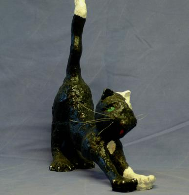 """stretching cat"" by Allie Scott"