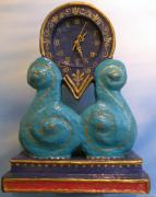 big blue wave clock by Allie Scott