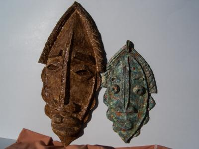 """Two tribal masks"" by David Peterson"