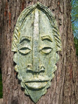 """Mask on tree"" by David Peterson"