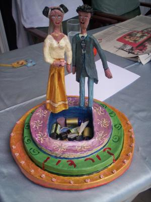 """bride&groom cake"" by Libi Fadlon"