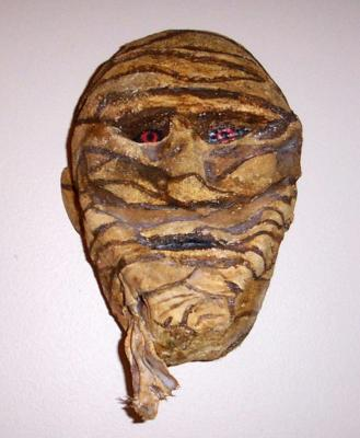 """The Mummy ( Wall Mask)"" by Garry Slack"