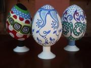 THREE PAINTED EGGS (Fabergé) by Rui Moura