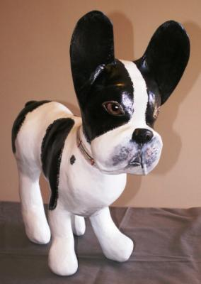 """Paper Mache Frenchie"" by Charisse Eaves"