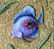 "Detail of decorative panels ""Fish"" by Margarita Amar"