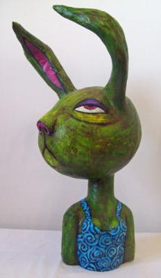"""Hare Bust"" by Laura Wacha"