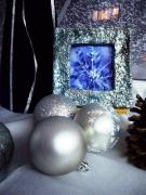 Christmas decorations in silver and blue by Iva Mincheva