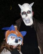 "Skull and ""Sonic"" Pumpkin mask by Pat McGrath"