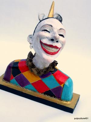 """Harlequin with 'pointy' hat"" by Eric Wilson"
