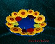 Sunny Flowers Fruit Plate by Elna Badenhorst
