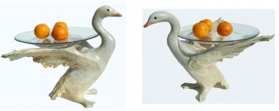 """Swan Plate Stands"" by Sarah Hage"