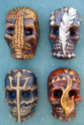 """Spirit Masks of the 4 Elements"" by Sarah Hage"