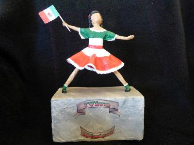 """Viva Mexico (front side)"" by Nancy Hagerman"
