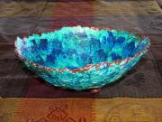 Papier mache bowl by Nancy Hagerman