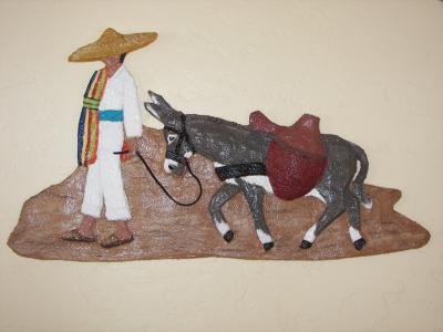 """A boy and his donkey"" by Nancy Hagerman"