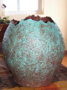 Teal and Brown Vase by Nancy Hagerman