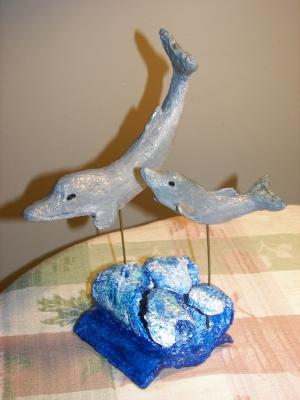 """Dolphins"" by Nancy Hagerman"
