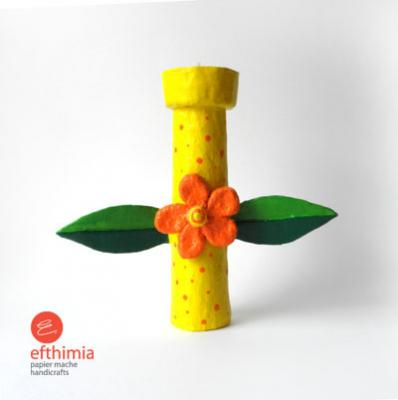 """Flower candle holder"" by Efthimia Kotsanelou"