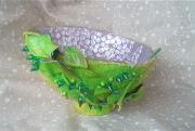 Green Leaf Bowl by Val Vyers
