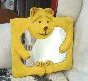 Teddy bear mirror by David Osborne